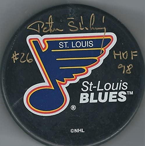 Autographed BERNIE MCRAE St. Louis Blues Hockey Puck - Autographed NHL Pucks
