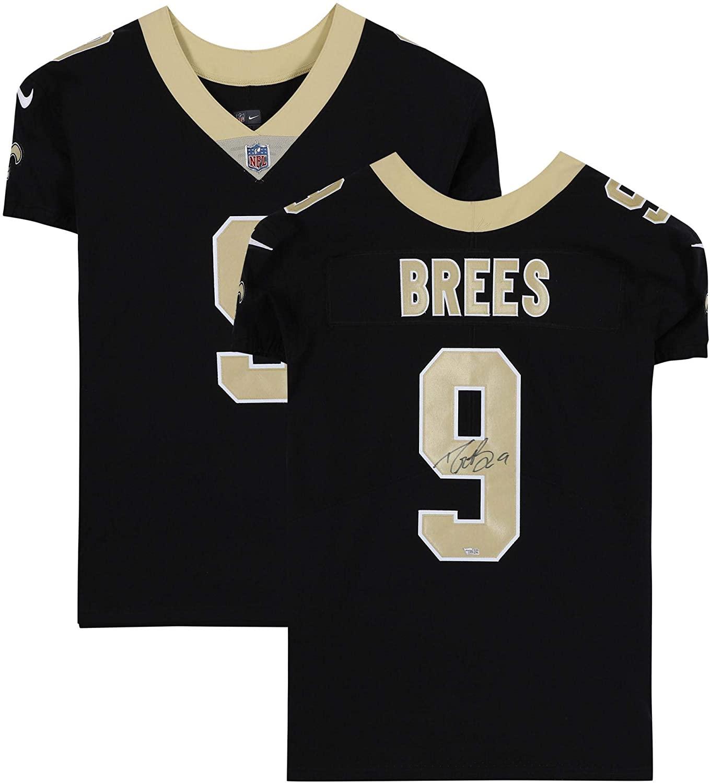 Drew Brees New Orleans Saints Autographed Nike Black Elite Jersey - Fanatics Authentic Certified - Autographed NFL Jerseys