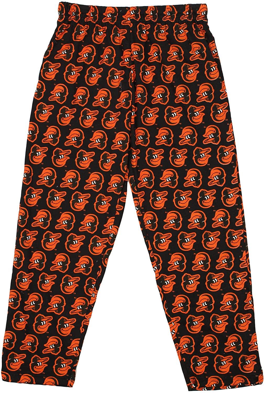 Zubaz MLB Mens Baltimore Orioles Big Logo Print Lounge Pants, Medium
