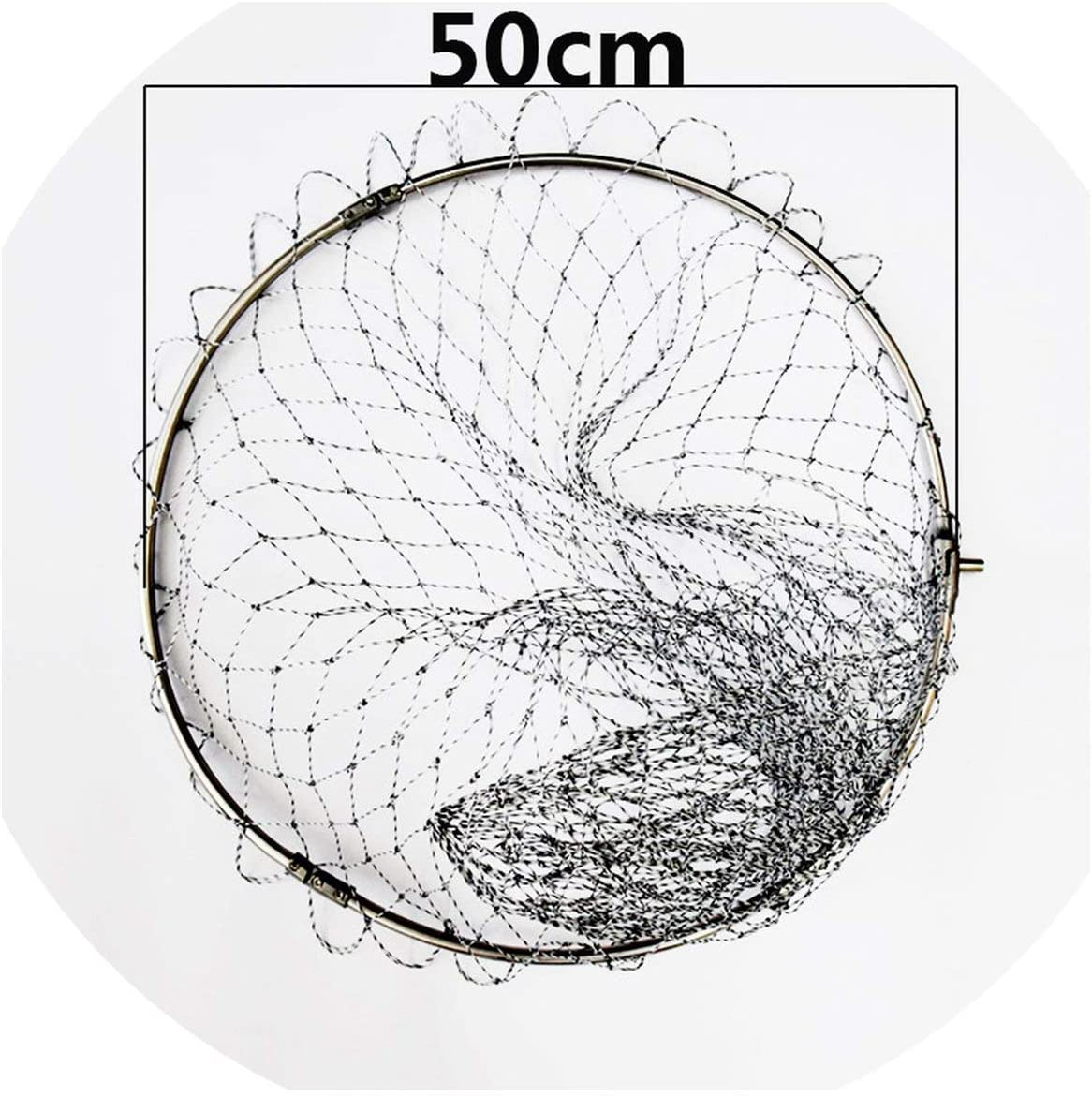 OH WHY Pe Nylon Fishing Nets Fishing Tackle Collapsible Rhombus Mesh Hole Depth Folding Dip Net All for Fishing Products