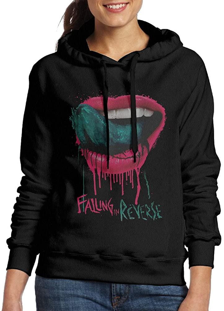 Falling in Reverse Rock Pullover Women's Hooded Sweatshirt Crew-Neck
