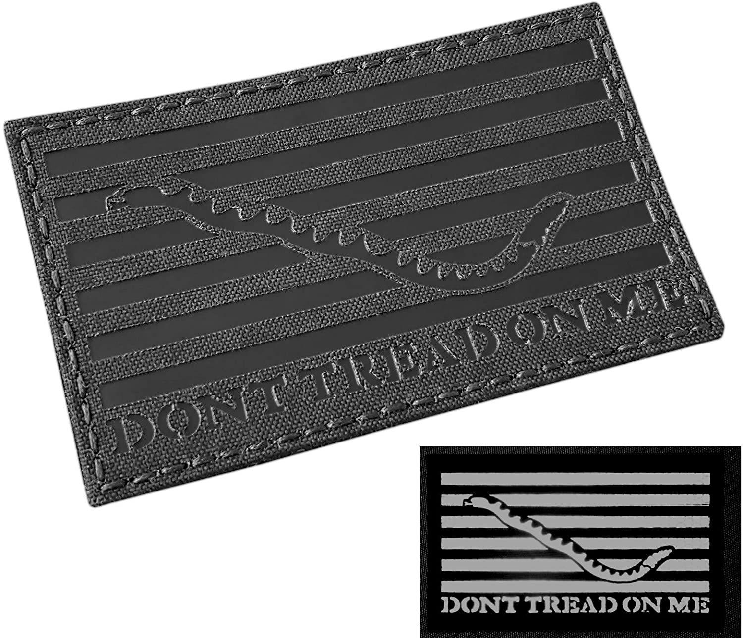 Large IR 3x5 Blackout US First Navy Jack Dont Tread On Me DTOM Flag Infrared Morale Touch Fastener Patch