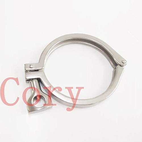 Ochoos 1PCS 304 Stainless Steel Tri Clover Sanitary Fitting 1.5