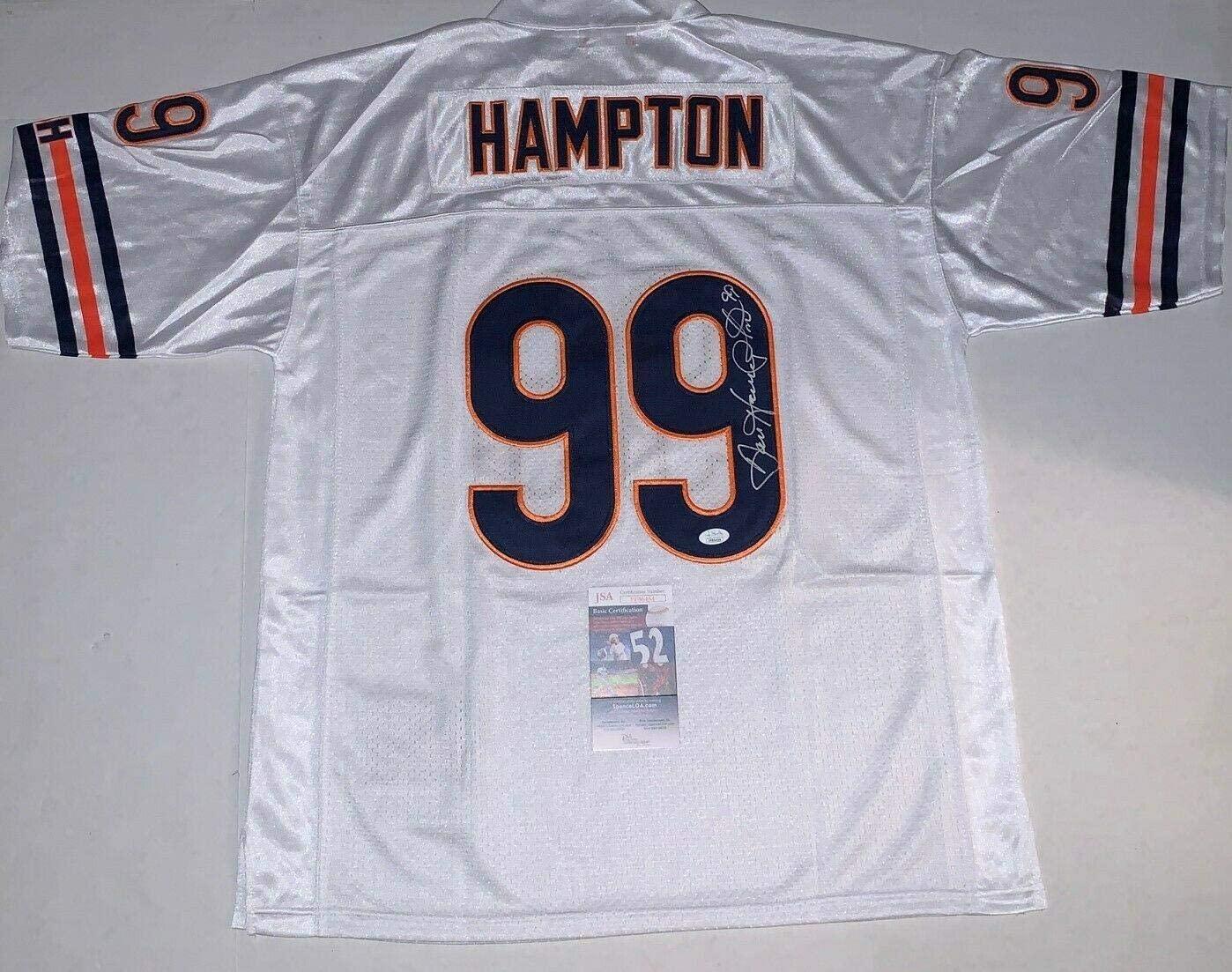Dan Hampton Autographed Jersey - HOF - JSA Certified - Autographed NFL Jerseys