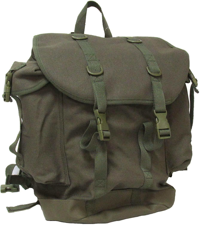 Military Uniform Supply Canvas Assault Rucksack - Olive DRAB