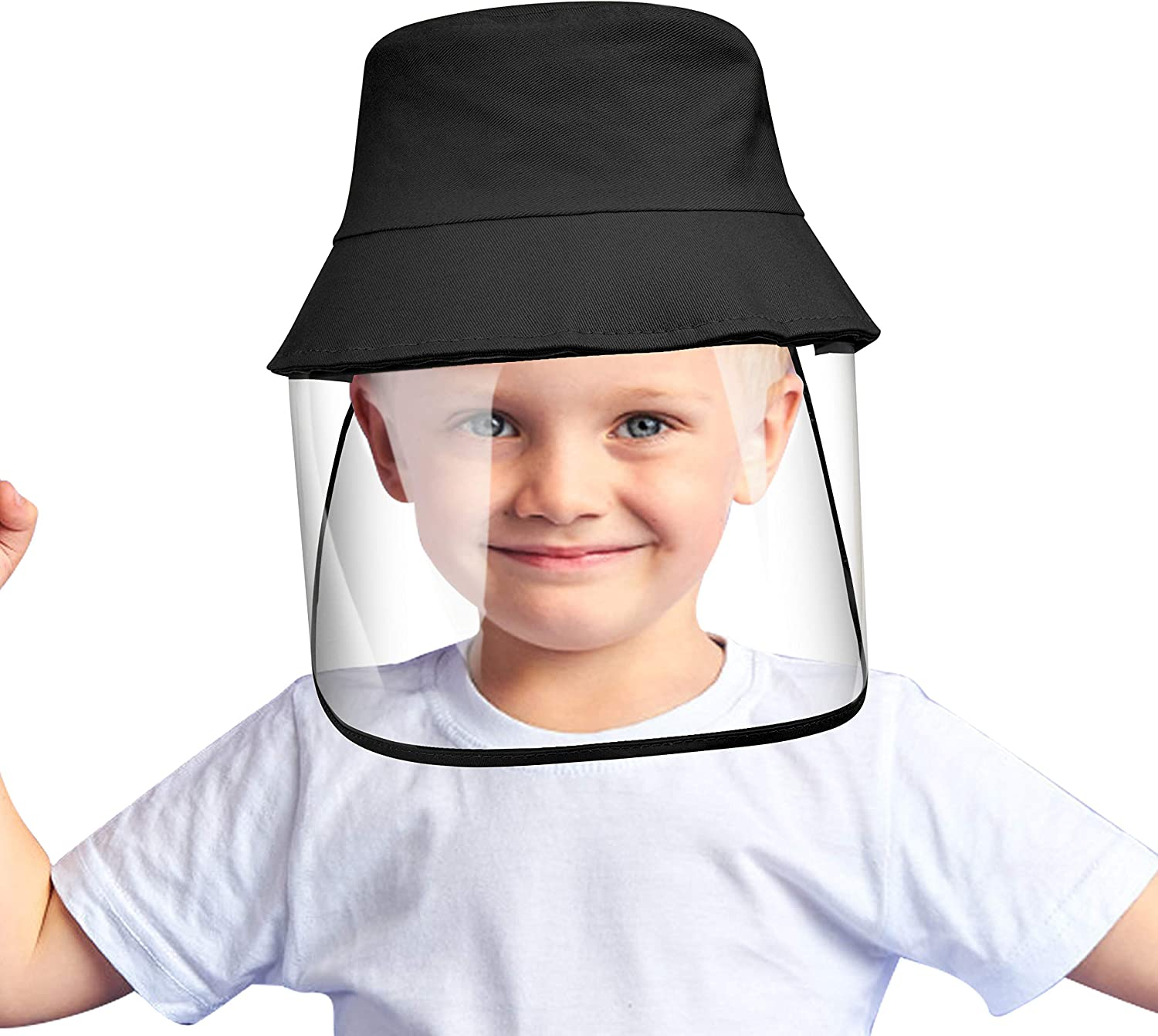 Protective Sun Hat, Anti Fog Dustproof Cap Protective Fisherman Hats, Removable Protective Hat for Adult & Kids