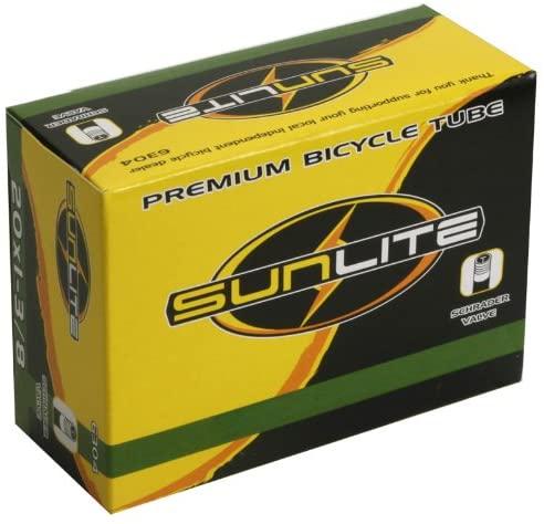 Sunlite Standard Schrader Valve Tubes, 20 x 2.75-3.00
