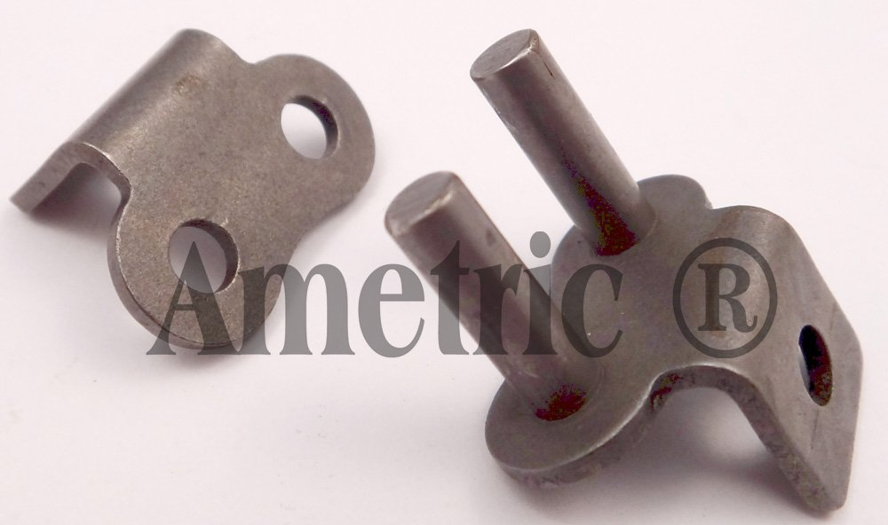 Ametric 50-1 RCLK1 X10PK Rivet Type Connector Single Strand Roller Chain In Package of 10 Pcs 50-1 ANSI Number 0.625 Inch Pitch, 0.37 Inch Between Plates, 0.4 Inch Roller Dia, 0.815 Inch Chain Width, 10A-1 ISO Number (1-105)
