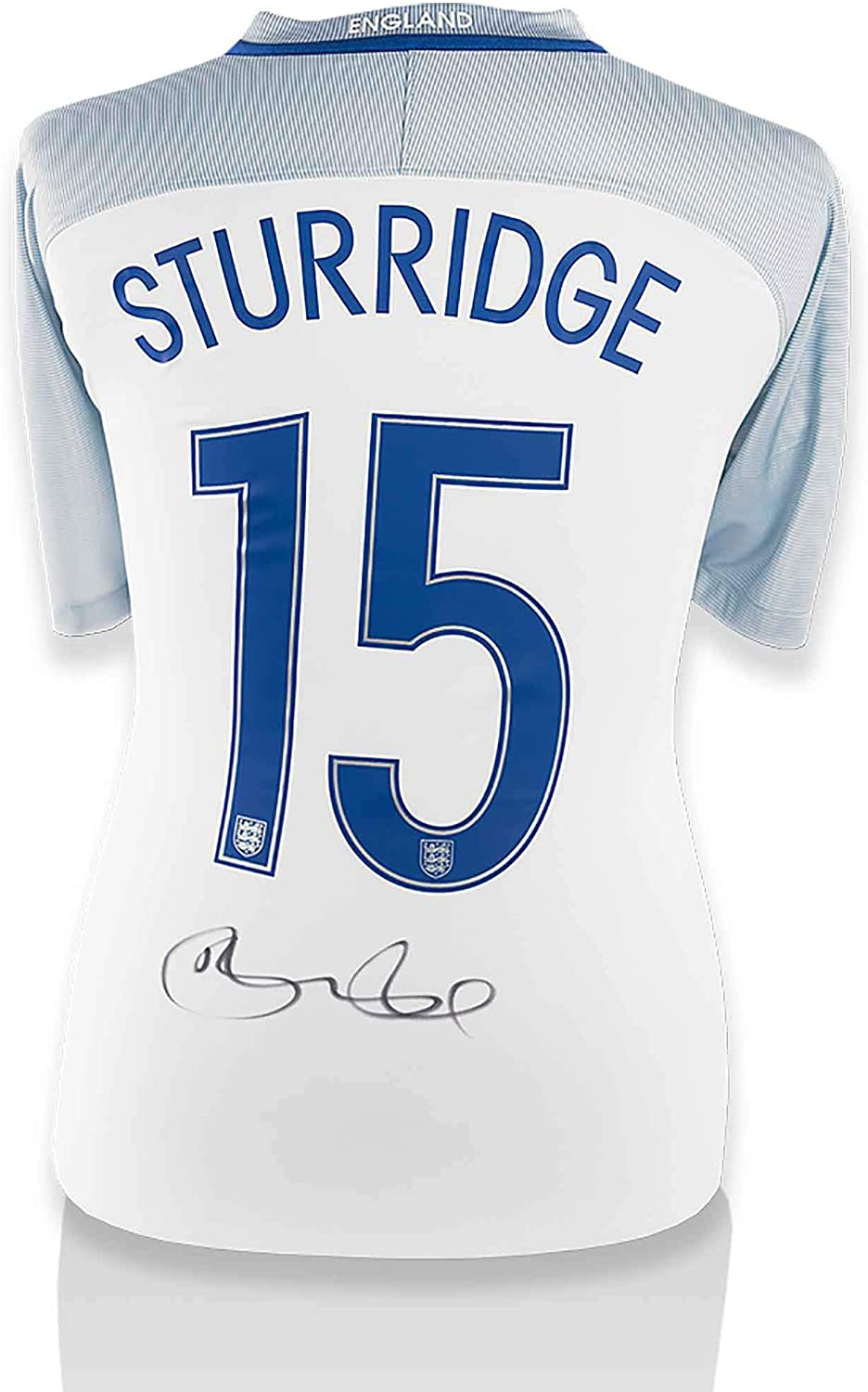 Daniel Sturridge England National Team Autographed 2016-2017 Home Jersey - ICONS - Fanatics Authentic Certified