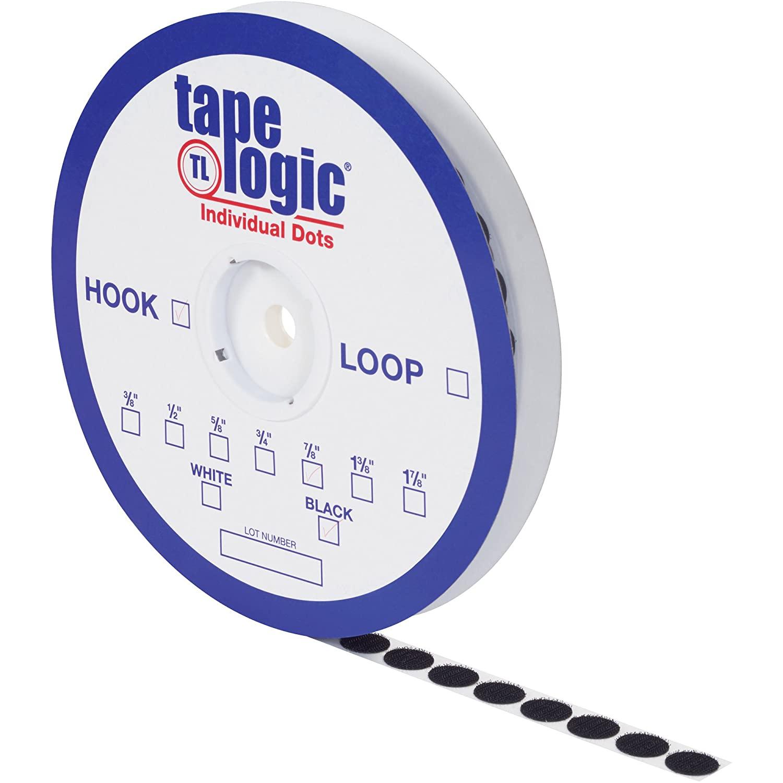 Tape Logic Individual Tape Dots, Hook, 1 7/8, Black, 450/Case