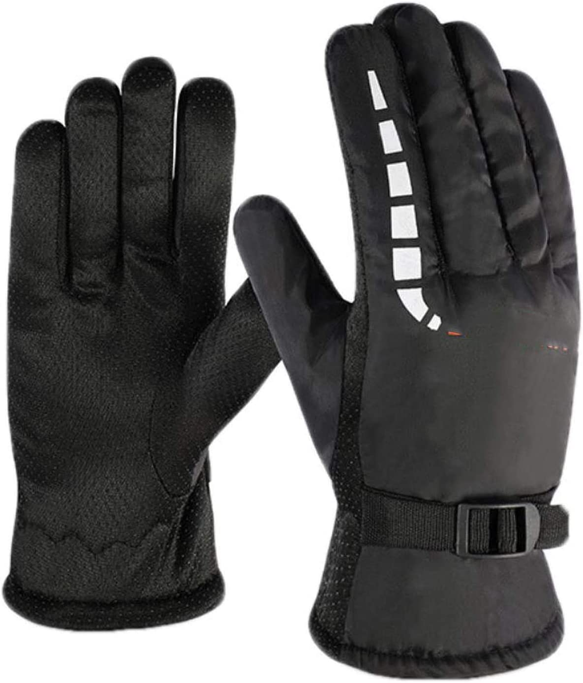 YR5V4V Ski Gloves Waterproof Windproof Warm Non Slip Outdoor Riding Motorcycle Gloves Wear Velvet Thickening Skiing Gloves,B,China