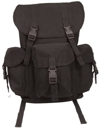 Rothco Black Canvas Outfitter Rucksack