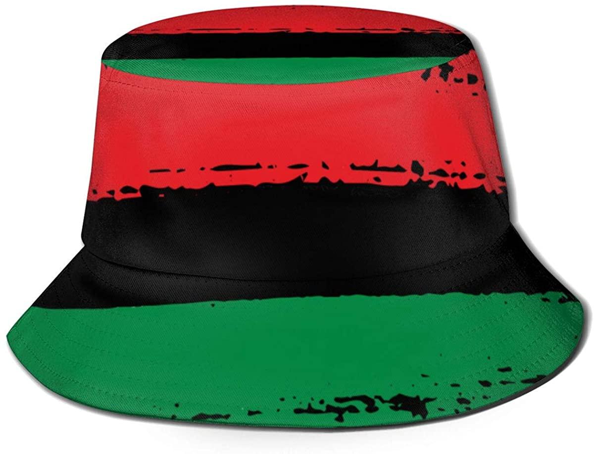Nice Music Vintage Faded American Flag Print Bucket Hat Fisherman Fishing Sun Cap for Adult Women Men Girl Boy Unisex