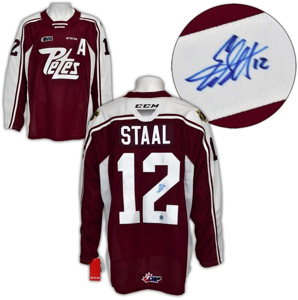 Autographed Eric Staal Jersey - Peterborough Petes CCM CHL Replica - Autographed NHL Jerseys
