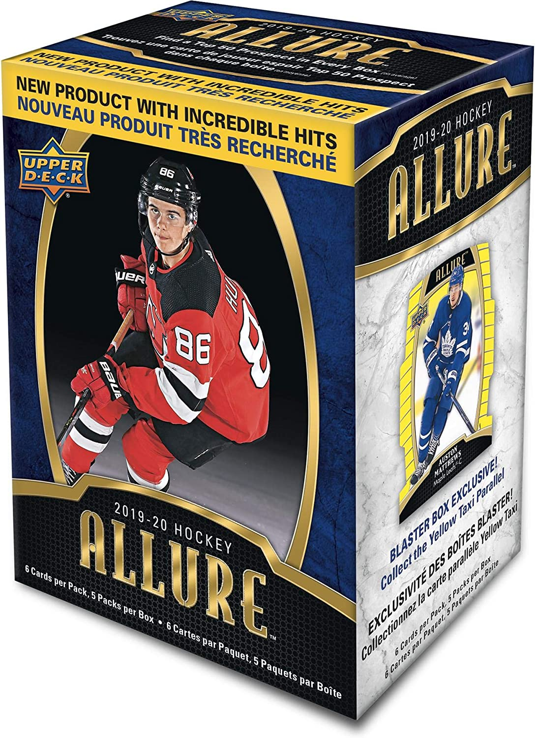 2019-20 Upper Deck Allure Hockey Factory Sealed 5 Pack Blaster Box - Hockey Wax Packs