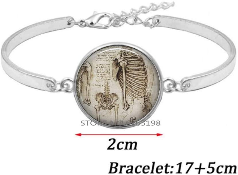 Anatomy Bracelet, Gift for Orthopedist Orthopaedic Nurse Chiropractor Gift Medical Student Graduation Bracelet,N273