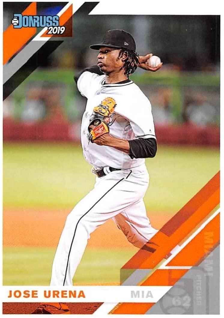 2019 Donruss #114 Jose Urena Miami Marlins Baseball Card