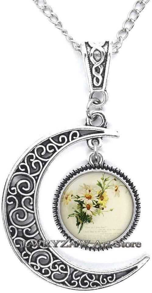 Flower Necklace Daisy Necklace Daisy Jewelry Flower Jewelry Glass Tile Jewelry Yellow Necklace Yellow Jewelry Jewelry,M286