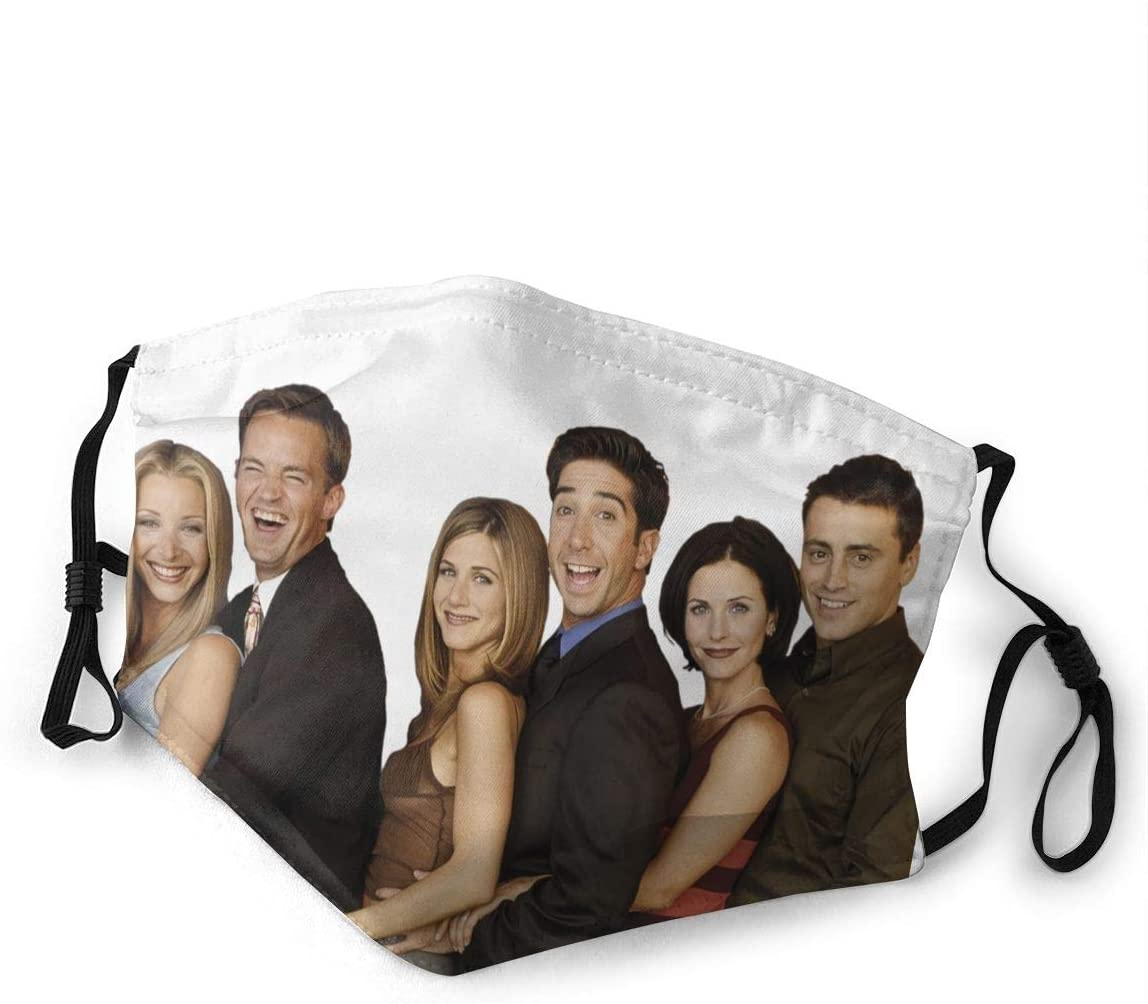 Friends Tv Show Dust with Filter is Soft and Breathable You Can Change Its Length According to Your Facial Contour