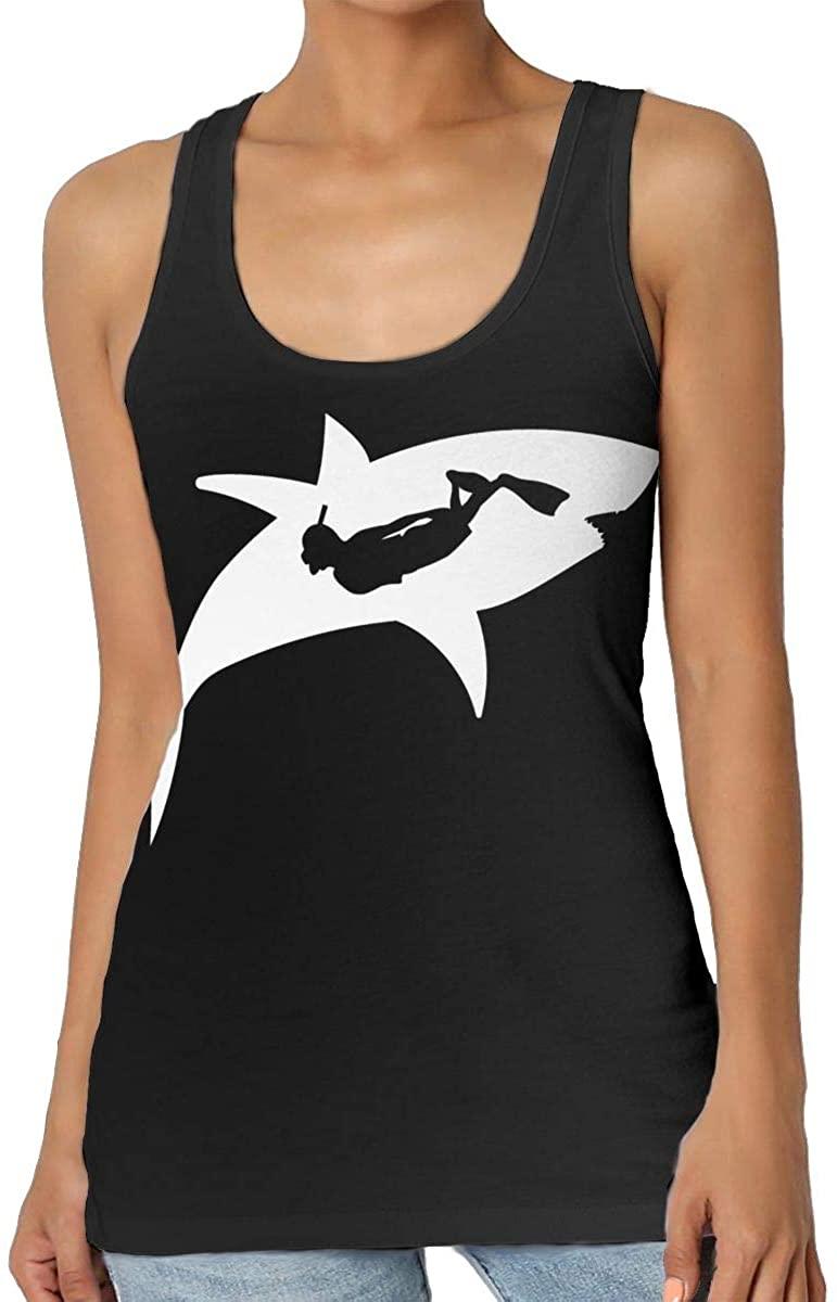 Shark Diving Womens Tank Top T-Shirt 3D Printed Sleeveless Vest