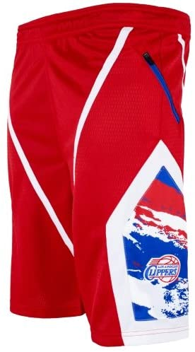 Zipway Los Angeles Clippers Youth Kevin Shorts - Red