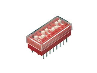 GRAYHILL 76P02 76 Series Plastic 2 Position Dip Switch Clear Cover - 25 Item(s)