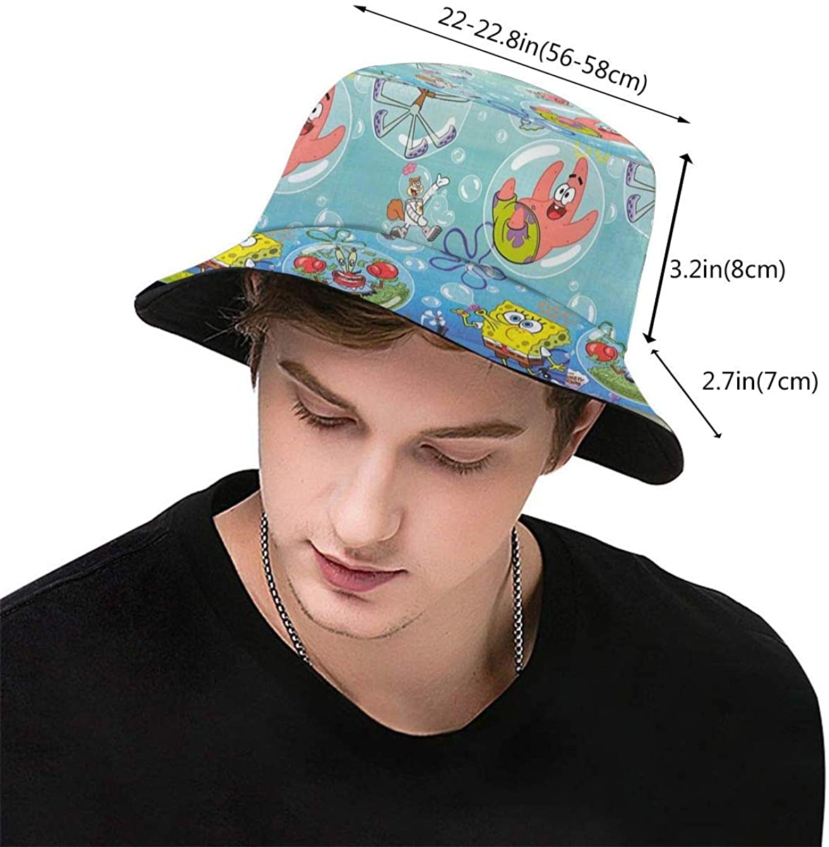 Lbbbb Spongebob Squarepants Art Print Fisherman's Hat - Unisex Summer Outdoor Hunting Fishing Safari Travel Bucket Sun Hat