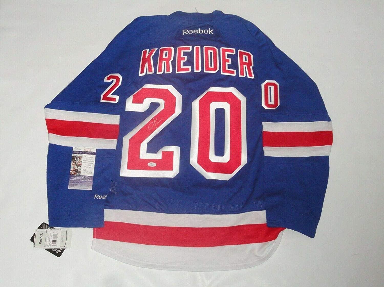 Chris Kreider Autographed Jersey - 2014 Stanley Cup Proof Coa - JSA Certified - Autographed NHL Jerseys
