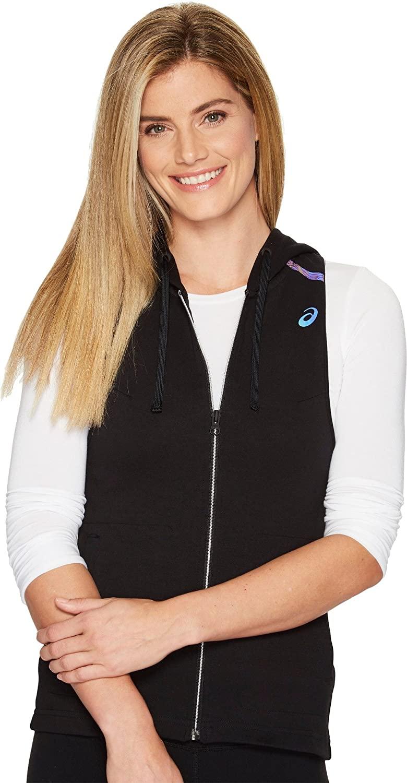 ASICS Women's Racerback Hooded Vest, Performance Black, Small