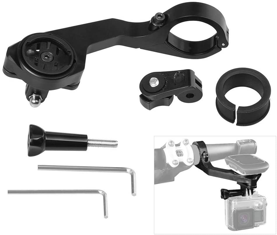 Andoer 25.4/31.8mm Out-Front Bike Mount for Garmin Edge 1000/800/810/200/500/510 for GoPro