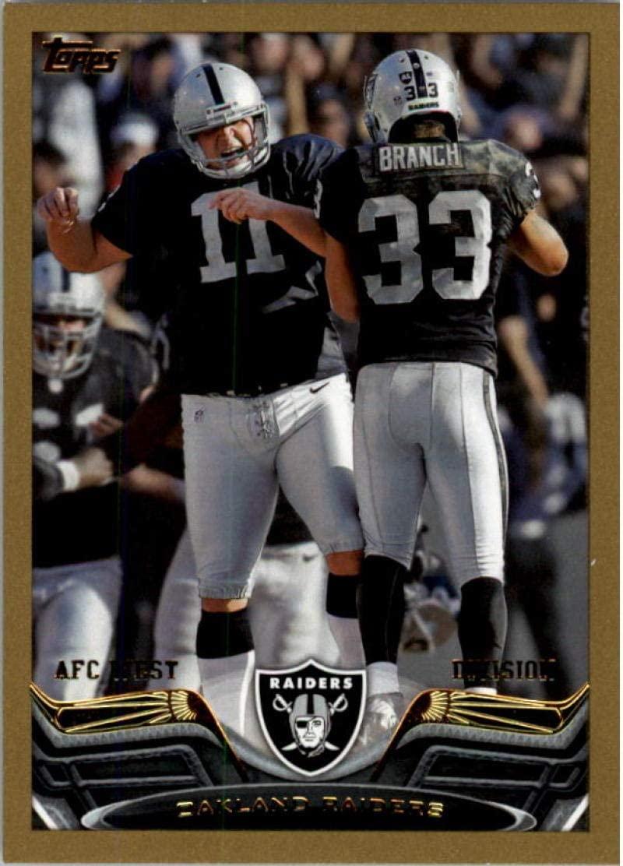 2013 Topps Gold #167 Oakland Raiders NM-MT 1728/2013 Raiders