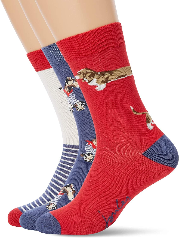 Joules, Brilliant Bamboo 3pk Socks,