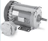 Marathon C1818 56CZ Frame Explosion Proof Division 1: Class I and ll, Group C, D, F and G Hazardous Duty Motor, 1/4 hp, 1200 RPM, 115 VAC, 1 Phase, 1 Speed, Ball Bearing, C-Face, Capacitor Start