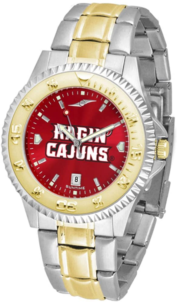 SunTime Louisiana (Lafayette) Ragin Cajuns Competitor AnoChrome Two Tone Watch