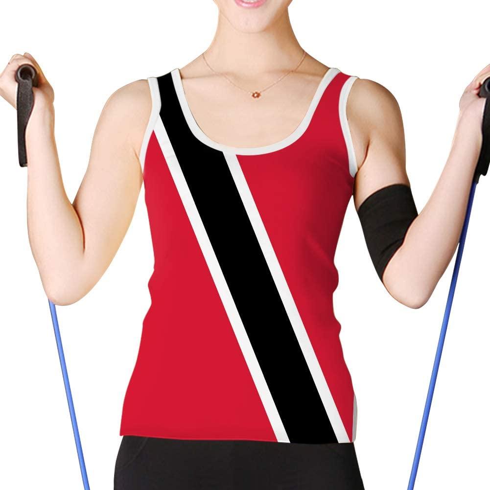 Women's Basic Tank Tops Racerback Camisole Girls Trinidad and Tobago Flag