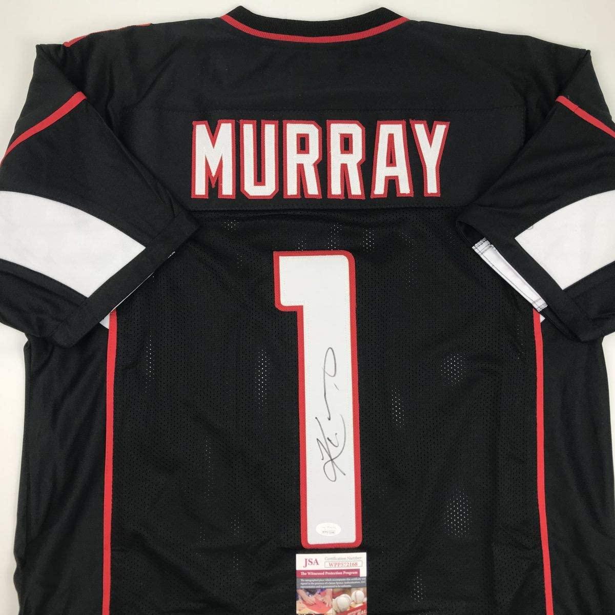Autographed/Signed Kyler Murray Arizona Black Football Jersey JSA COA