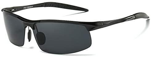 zshun Goggles Driving Polaroid Sun Glasses Aluminum Frame Sports Sunglasses Men Polarized Driver Retro Uv400 Anti-Glare Goggles