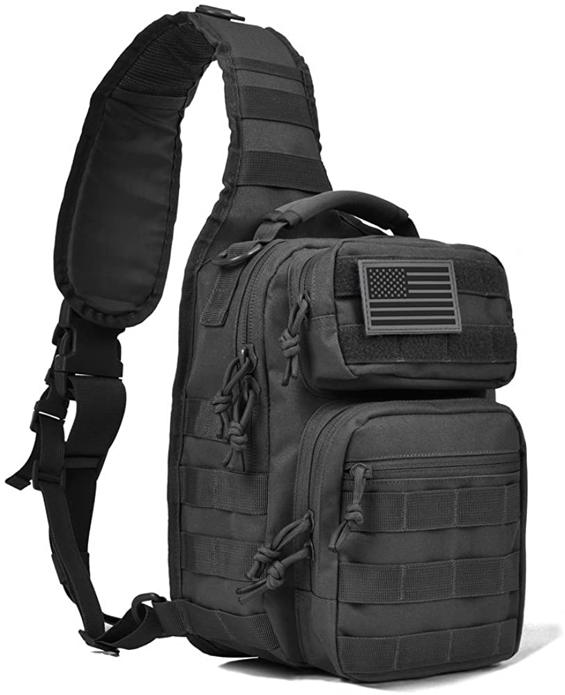 REEBOW GEAR Tactical Sling Bag Pack Military Rover Shoulder Sling Backpack