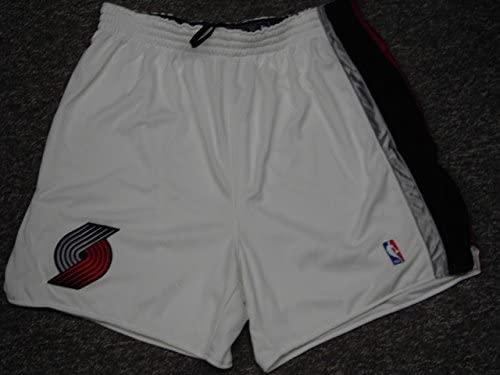 Bonzi Wells Portland Trailblazers White Game Worn Shorts