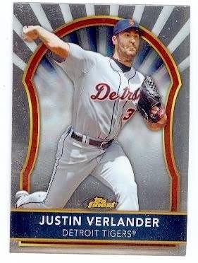 Justin Verlander baseball card (Detroit Tigers) 2011 Topps Finest Chrome #22