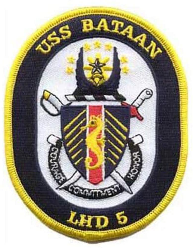 Squadron Nostalgia LLC USS Bataan LHD 5 Patch – Plastic Backing