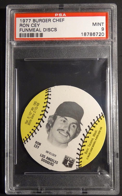 1977 BURGER CHEF RON CEY FUNMEAL DISCS PSA 9 TEXAS RANGERS POP 10 (511)