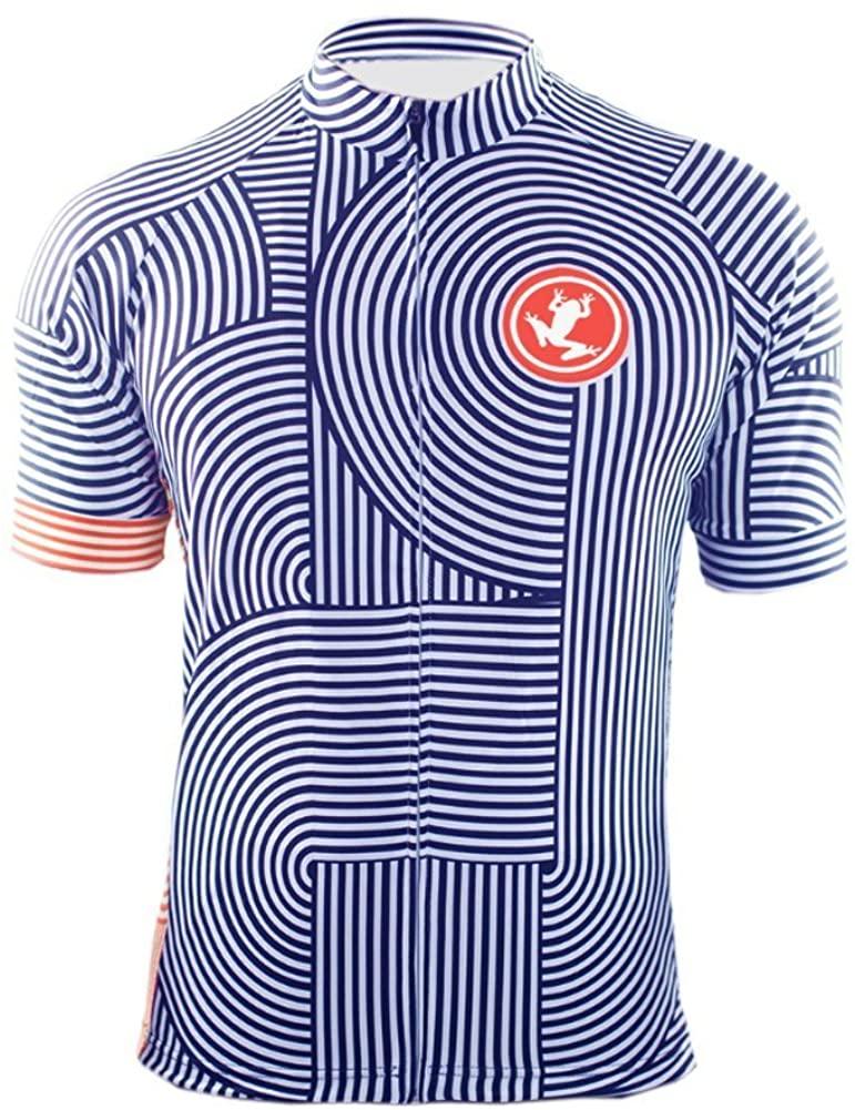 Uglyfrog Designs Bike Wear Mens Cycling Jerseys Tops Biking Shirts Short Bike Clothing Full Zip Bicycle Jacket with Pockets