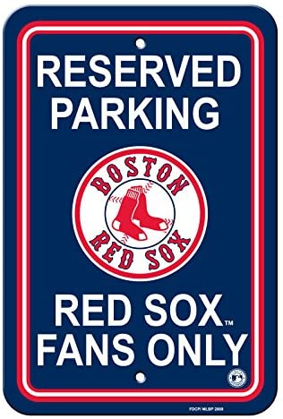 Fremont Die Official Major League Baseball Shop Authentic MLB Parking Sign - Man Cave and Bar (Boston Red Socks-Reserve)