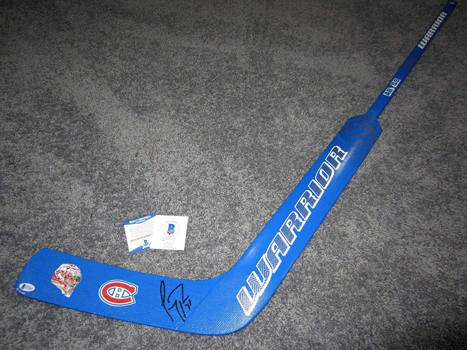 Signed Carey Price Stick - Goalie w BAS COA Mask - Beckett Authentication - Autographed NHL Sticks