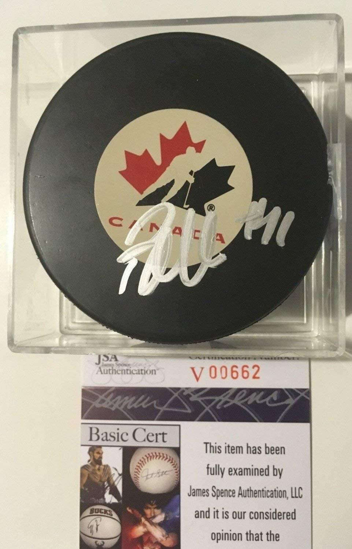 Patrick Marleau Autographed Signed Team Canada Puck JSA COA Toronto Maple Leafs Auto
