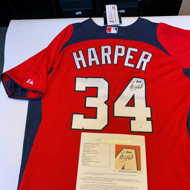 Bryce Harper Signed Jersey - COA - JSA Certified - Autographed MLB Jerseys