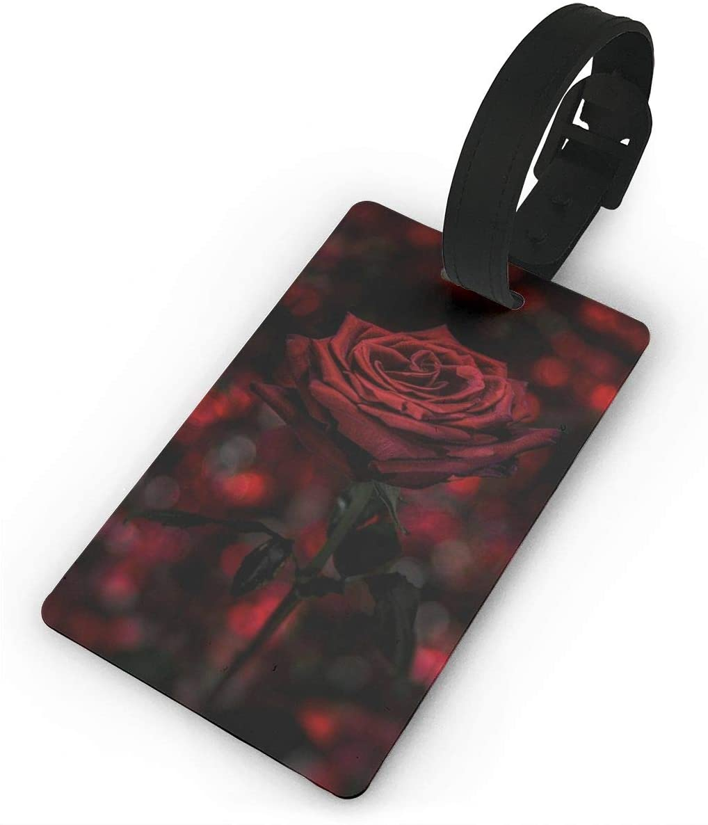 Field Rain Rose Fashion Luggage Tag PVC Travel ID Suitcases Label For Bag