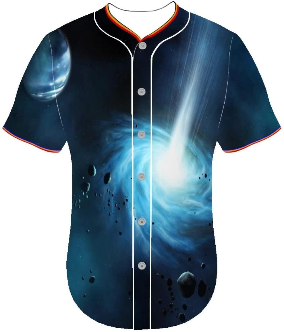 jerseys Universe epjl Button Front Shirt Men Arc Bottom Baseball Jersey Entaiquji 3d printed tuxedo t shirt 3D Printer