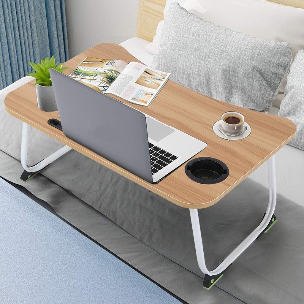 Fasclot Large Bed Tray Foldable Portable Multifunction Laptop Desk Lazy Laptop Table